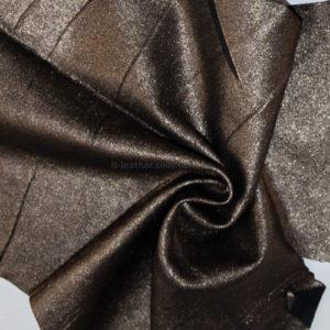 Кожа МРС , чёрная с золотистым напылением, 19 дм2.-910124