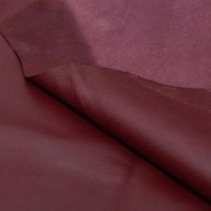 Кожа МРС, бордовая, 50 дм2.-104056