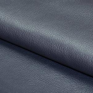 Кожа КРС, флотар (мелкое зерно), синяя.-01190