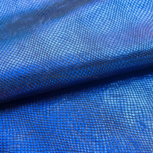 Кожа МРС с тиснением, синяя, 38 дм2.-602010