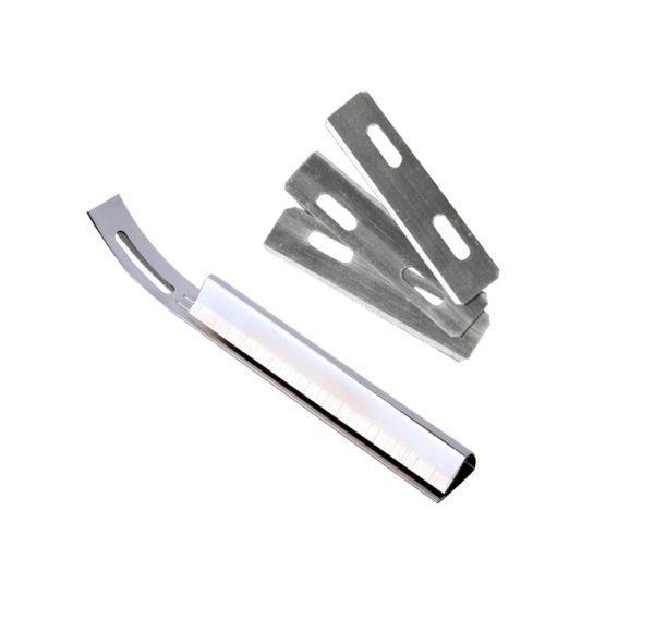 Бевелер, инструмент для истончения кожи + 3 лезвия-1033
