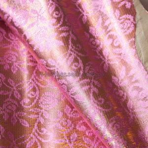 Кожа МРС с принтом, розовая, золотистая, 34 дм2.-240320