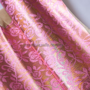 Кожа МРС с принтом, розовая, золотистая, 31 дм2.-240319