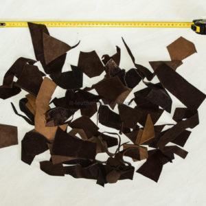 Обрезки натуральной кожи, коричневый микс-160013