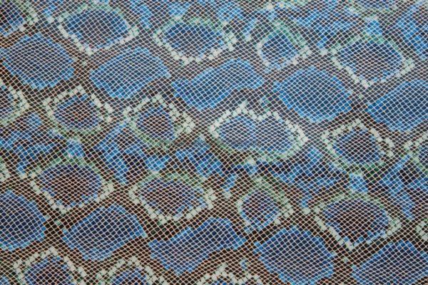 Кожа КРС, с тиснением, синяя, 124 дм2.-602076