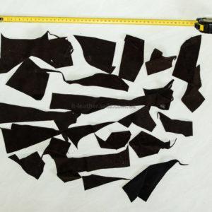 Обрезки натуральной кожи, коричневые-160005