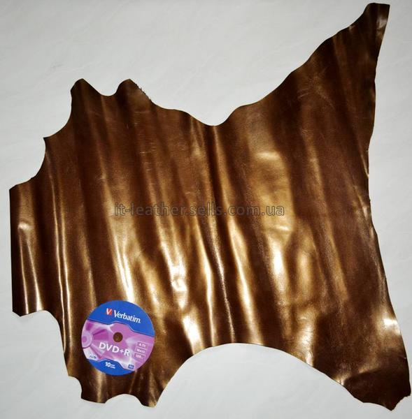 Кожа МРС , тёмная бронза, 31 дм2.-60040