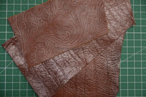Обрезки и лоскут кожи-131248
