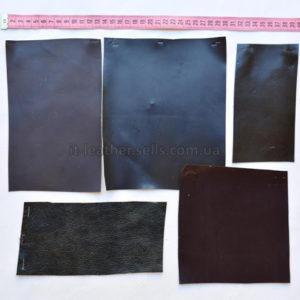 Набор лоскута кожи МРС, тёмно-зелёный-89-157
