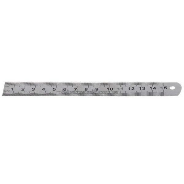 Линейка стальная (15 см.)-1102