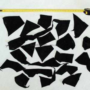 Обрезки натуральной замши, чёрные -160014