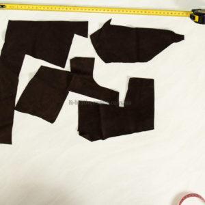 Обрезки натуральной замши, коричневые-160033