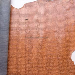 Кожа КРС с тиснением, светло-коричневая, 157 дм2.-602061