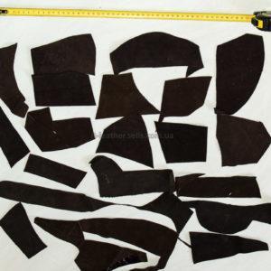 Обрезки натуральной замши, коричневые-160018