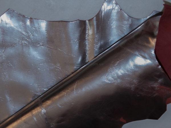 Кожа МРС, серебряная, 23 дм2.-910099