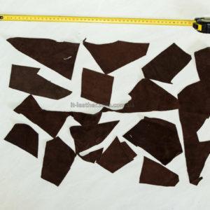 Обрезки натуральной кожи, коричневые-160008