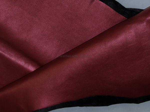 Кожа МРС, бордовая с перламутром, 31 дм2.-910066