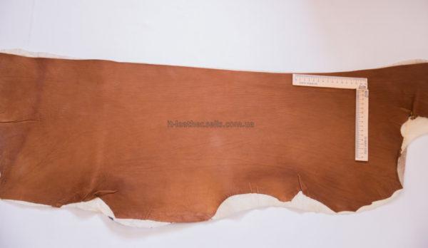 Кожа МРС с дублировкой, коньячная, 28 дм2.-909115