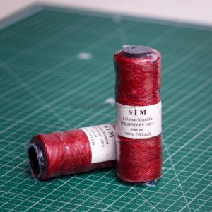 Нить вощенная. Красная (SIM 628).