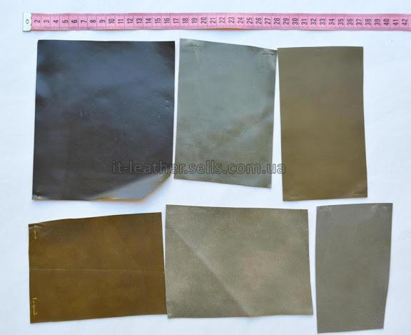 Набор лоскута кожи МРС, фисташковый-89-152