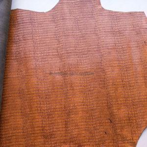 Кожа КРС с тиснением, светло-коричневая, 158 дм2.-602063