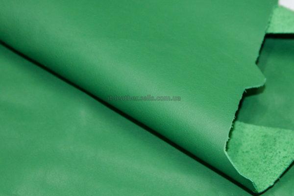 Кожа КРС, зелёная, 36 дм2.-703009