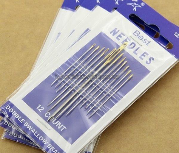 Набор из 12 игл для ручного шитья-1009