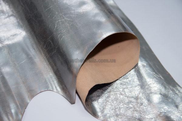 Кожа МРС, серебро (винтажное), 39 дм2.-290808