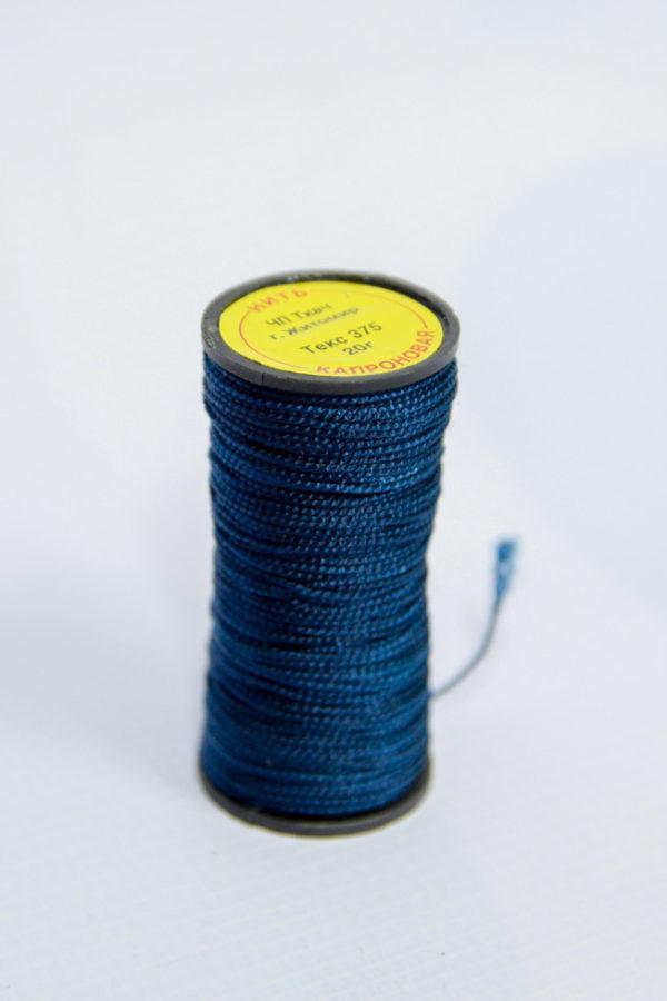 Нить капроновая крученая, синяя (текс 375)