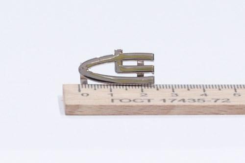 Украшение на усиках, 24х11 мм. LC. Никель-00014
