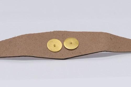 Украшение на гвоздиках, 27х7 мм. LC. Золото-00051
