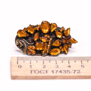 Украшение,56х26 мм. LC (Камень жёлтый Сваровски)-00151