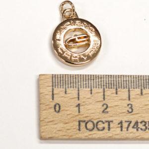 Подвеска маленькая, 20 мм. Золото-00221
