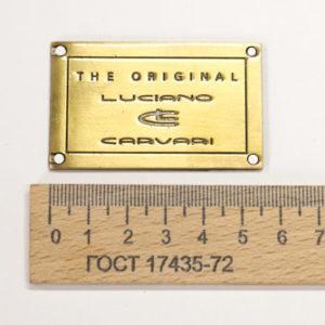 Украшение LC плита 56х35 мм. Бронза-00271