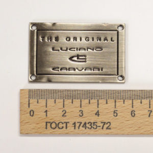 Украшение LC плита 56х35 мм. Чёрная-00272