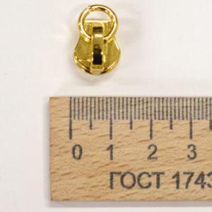 Бегунок на металлическую молнию 5 мм. золото-00301