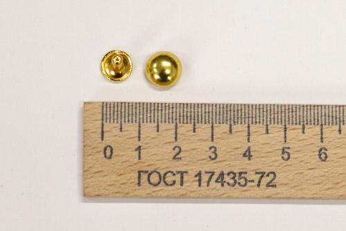 Хольнитены, 10 шт, Золото, 9 мм-00361