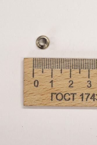 Люверсы, 10 шт. Никель, отверстие 4,4 мм.-00371