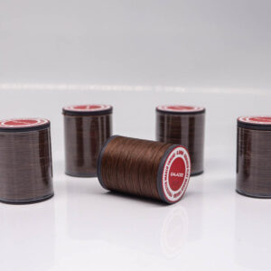 """Нить """"GALACES"""" вощеная плоская 0,8 мм. Тёмно-коричневая-s020"""