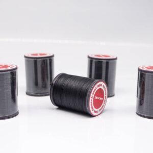 """Нить """"GALACES"""" вощеная плоская 0,8 мм. Чёрная-s999"""