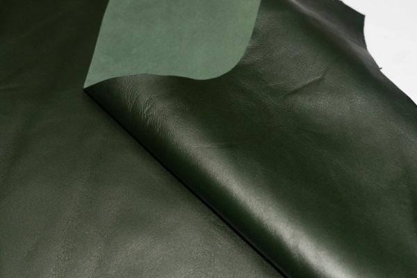 Кожа МРС, тёмно-зелёная, 55 дм2.-101149