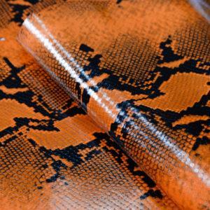 Кожа КРС, коллекция Gucci, оранжевая, 72 дм2.-101176