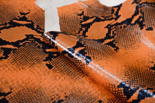 Кожа КРС, коллекция Gucci, оранжевая, 102 дм2.-101178