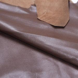Кожа МРС с перфорацией, коричневая, 34 дм2.-101212