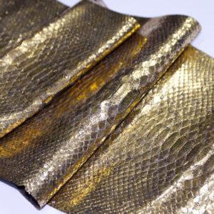 Кожа питона, золотистая, 140х27 см.-101225