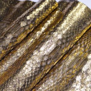 Кожа питона, золотистая, 132х29 см.-101226