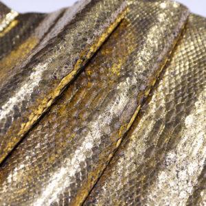 Кожа питона, золотистая, 128х28 см.-101227
