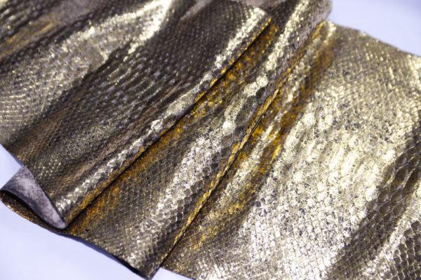 Кожа питона, золотистая, 147х28 см.-101229