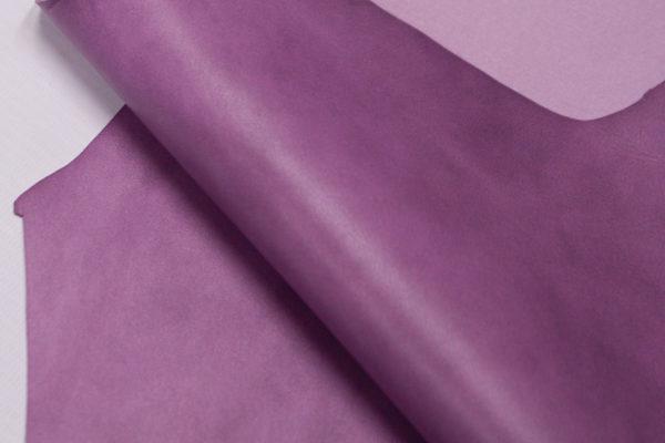 Кожа МРС, светло-сиреневая с мраморными разводами, 48 дм2.-103179