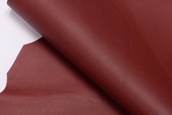 Кожа МРС, бордовая, 25 дм2.-103188